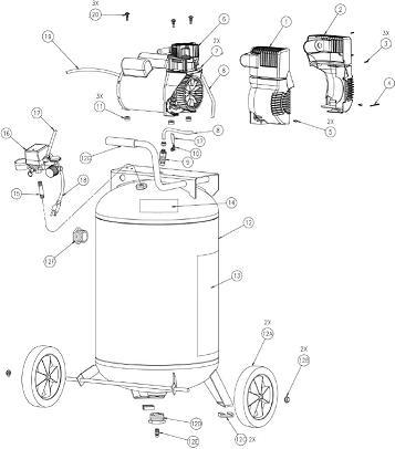 coleman powermate air compressor parts manual