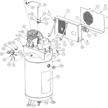 coleman cv6548049 air compressor parts, breakdown, manual  coleman  cv6548049 breakdown