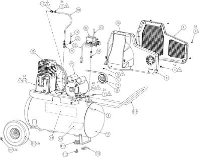 coleman spa0502054 air compressor parts breakdown manual