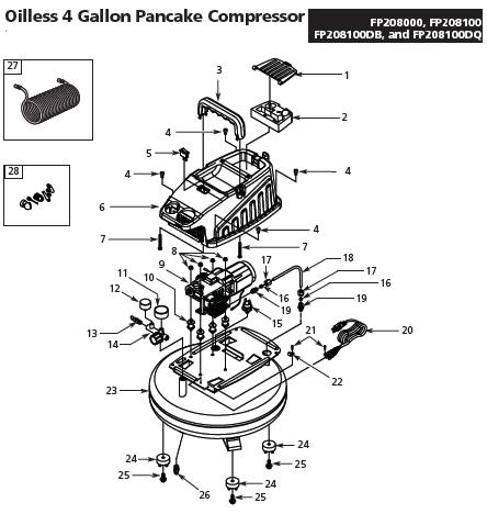 CAMPBELL HAUSFIELD FP208000 Air Compressor Parts