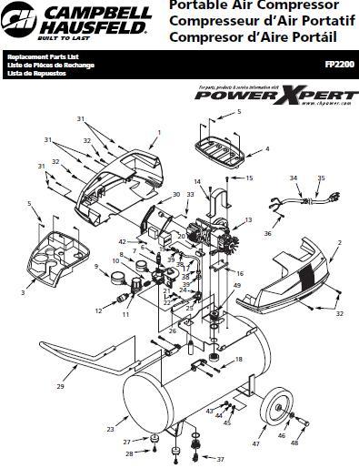 CAMPBELL HAUSFIELD FP2200 Air Compressor Parts