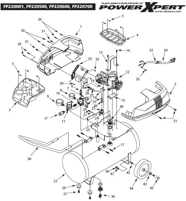 CAMPBELL HAUSFIELD FP220500 Air Compressor Parts